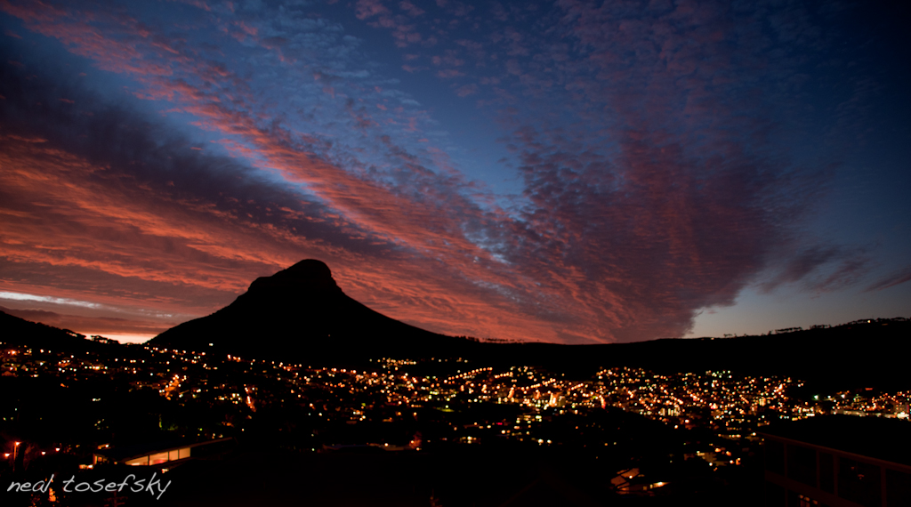Cape Town City Bowl Sunset